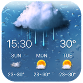 Rainy Drop Weather Widget APK for Bluestacks