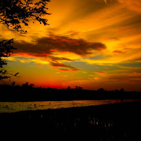 sunset 1 by Mbah Gatot Nugroho Susanto - Landscapes Sunsets & Sunrises