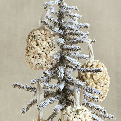Popcorn Ornament Balls Filled with Holiday Surprises.