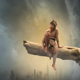 Bali boy today by Andy Penyu - Digital Art People ( #andy_penyu #bali_culture #human_interest #digital_art )