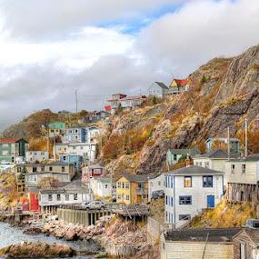 Fishing Village by Guy Longtin - Travel Locations Landmarks (  )