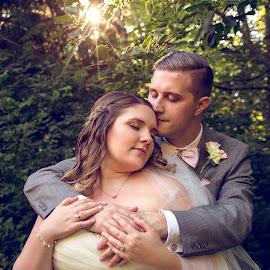 In My Arms by Kate Gansneder - Wedding Bride & Groom ( wedding, blush pink, couple, bride, groom )