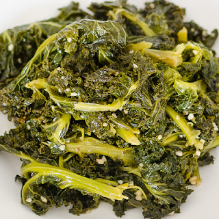 Healthy Vision Month Kale Greens and Garlic