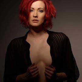 by Michaela Firešová - Nudes & Boudoir Artistic Nude ( glamour, beaty, nude, readhead, enchant )