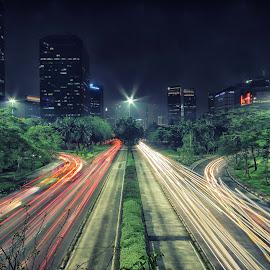 Semanggi by Ikent Iyenk - City,  Street & Park  Night (  )