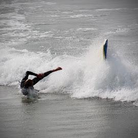 Wipeout by Garry Warren - Sports & Fitness Surfing ( splash, surfing, wave, sea, board, surf, wipeout )