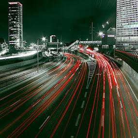 AYALON HIGHWAY by Dong Leoj - City,  Street & Park  Street Scenes ( street&park, street scenes, city )
