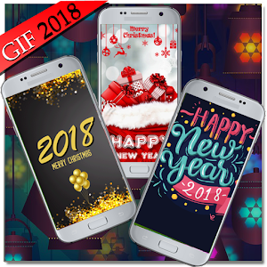Download live wallpaper new year 2018 GIF for PC