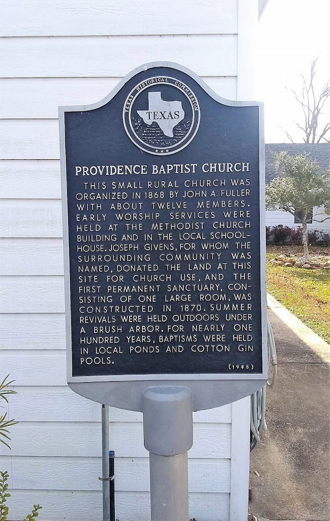 This small rural church was organized in 1868 by John A. Fuller with about twelve members. Early worship services were held at the Methodist church building and in local schoolhouse. Joseph Givens, ...