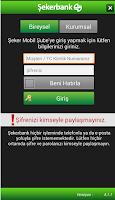 Screenshot of ŞEKER MOBİL ŞUBE