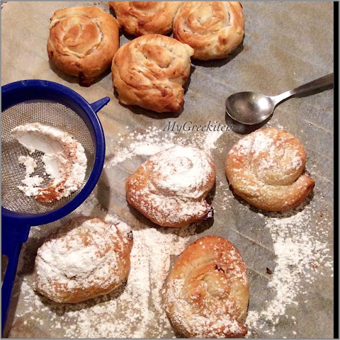 Bougatsa. Custard Phyllo Pastries