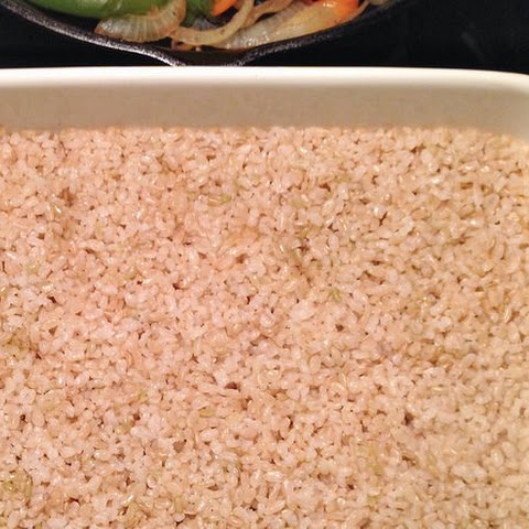 Brown Rice in the Oven.
