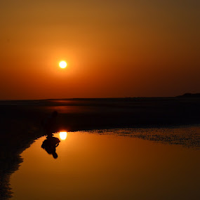 by Neha Neekhra - Landscapes Sunsets & Sunrises ( water, sillhouette, sky, sunset, pwcsunbeams-dq )