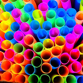 Bright and Colorful by Paulette King - Artistic Objects Other Objects ( fun with colors, colors, artistic objects, objects, straws )