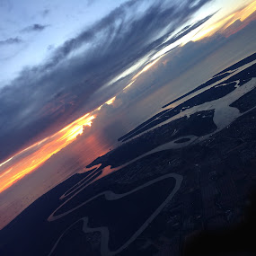 by Praveen Chand - Instagram & Mobile iPhone ( flight, waterscape, sunset, islands )