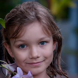 Beauty by Natalia Vikhtinskaya - Babies & Children Child Portraits ( beauty face, girl, in the garden, beautiful life, eyes )