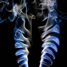 Smoke Signals by Larry Strong - Digital Art Abstract ( incense, smoke )