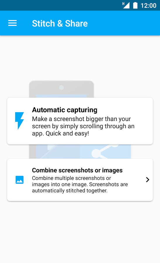 Stitch & Share: big screenshot Screenshot 0