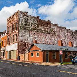 Staunton Virginia by Todd Crenshaw - City,  Street & Park  Historic Districts ( clouds, building, street, bricks, virginia, staunton, downtown )