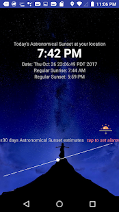 Astronomical Sunset screenshot for Android