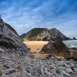 praia da adraga by Gjunior Photographer - Landscapes Mountains & Hills ( mountain, nature, beach, landscape )