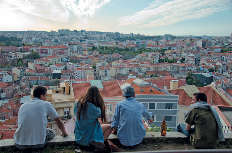 View over Lisbon from the Miradouro de São Jorge castle