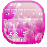 Purple Flowers Keyboard Theme Icon