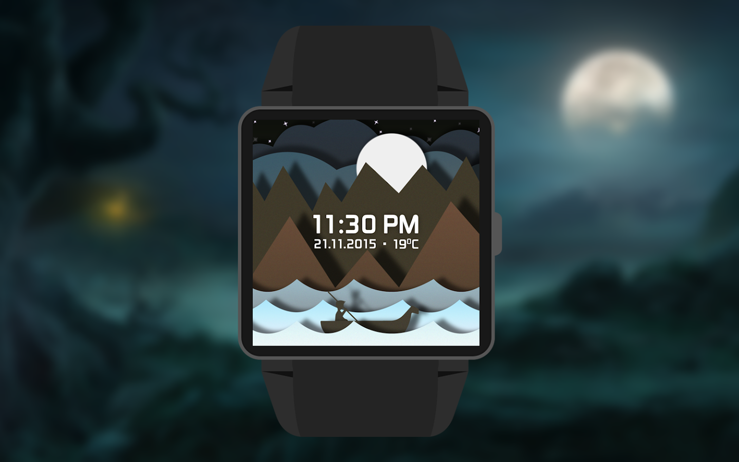 Time Sailor Animated Watchface Screenshot 2