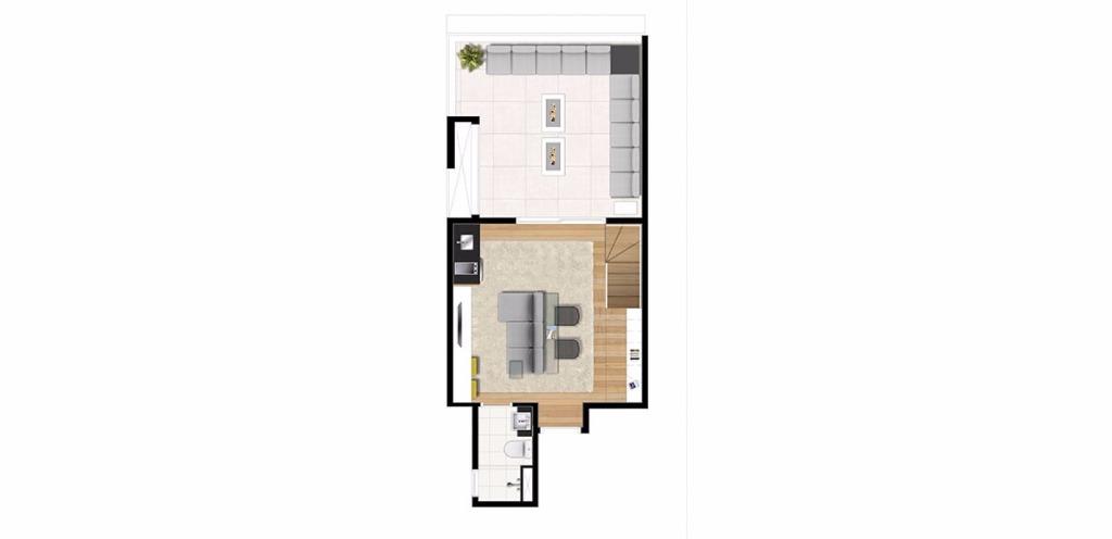 Planta Triplex Inferior 123 m²