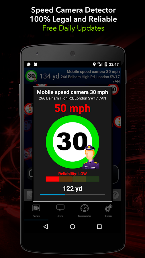 Radarbot Pro: Speed Camera Detector & Speedometer Screenshot 2
