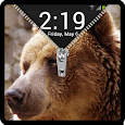 Zipper Lock Screen Bear