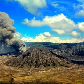 Bromo's Erruption by Rakhman Matsunaga Stavolt - Landscapes Mountains & Hills