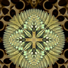 Automne  abstrait by Linda Czerwinski-Scott - Illustration Abstract & Patterns ( patterns, abstract art, illustration, fractals, design )