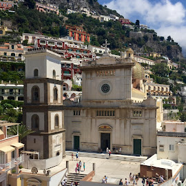Italian Cathedral in Positano by Sophie Kirkman - Buildings & Architecture Places of Worship