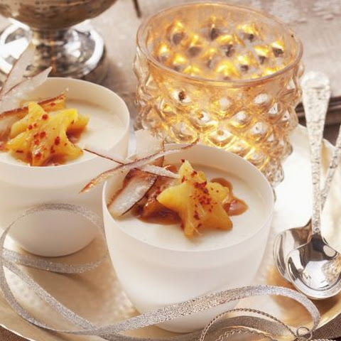 Tropical Pudding with Fruit Stars