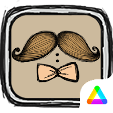 Moustache Theme - Air Launcher