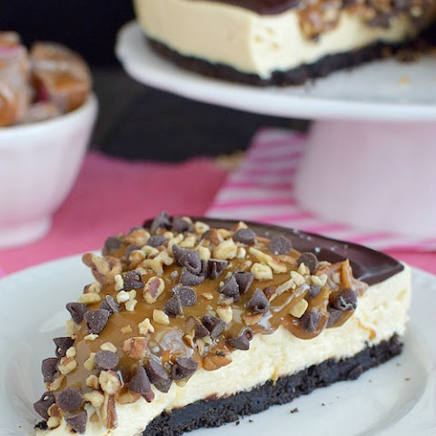 Chocolate Caramel Cheesecake Tart