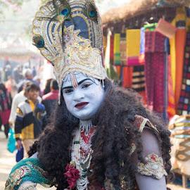 Krishan in Romance by Nazneen Siddique - People Body Art/Tattoos ( krishna as god, romantic krishna, indian god, god in public )