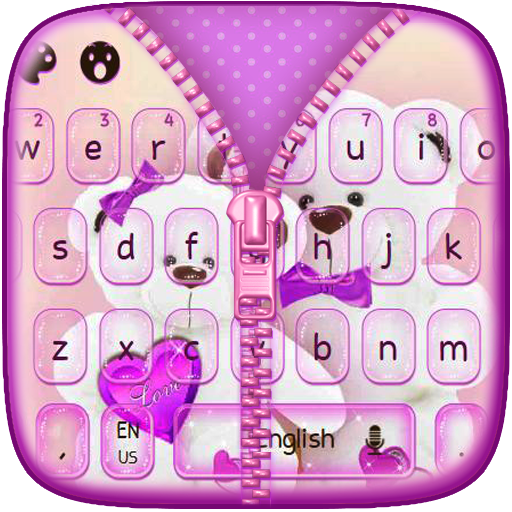 Teddy Bear Zipper Keyboard (app)