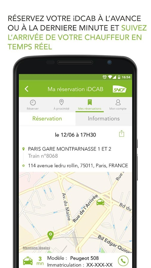 iDPASS SNCF Screenshot 2