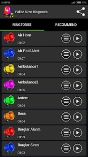 Police Siren Ringtones - screenshot