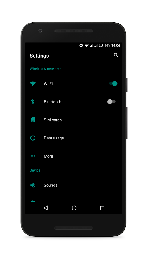 Vanta Black CM Theme Screenshot 2