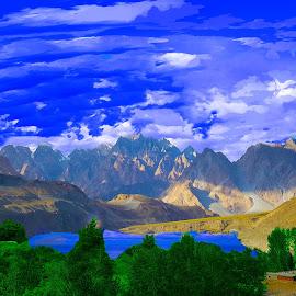 Golden View by Malik Malik - Landscapes Mountains & Hills