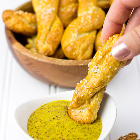 Sourdough Pretzel Twists with Beer Mustard