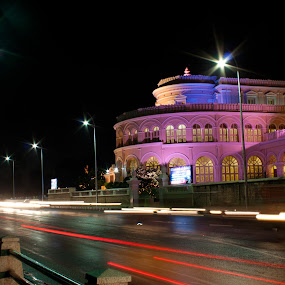 Vivekanandar Illam Chennai by Nanda Kumar - Buildings & Architecture Statues & Monuments ( vivekanandar illam, long xposure, night photography, night, ice house, chennai )