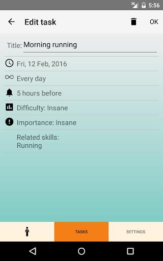 LifeRPG Tasks - screenshot