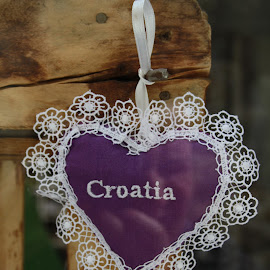 Embroidered Lavanda Pillow in Split by Kristina Koboevic - Artistic Objects Clothing & Accessories