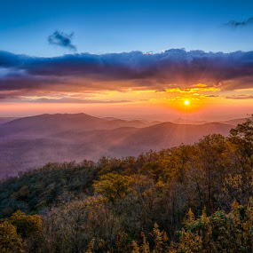 Blueridge Morning by Brian Young - Landscapes Mountains & Hills ( hill, mountains, sunrise, morning )