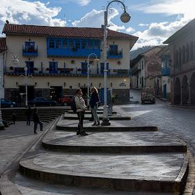 Stairs in Cusco by Hezi Shohat - City,  Street & Park  Street Scenes ( stairs, peru, cusco )