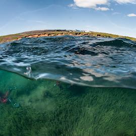 diver by Þröstur Njáls - Landscapes Underwater ( water, iceland, dive, nikon, feedive )